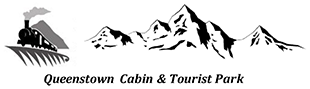 An image of the Queenstown Cabin and Tourist Park logo.
